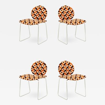 Olivier Mourgue Djinn Chairs with Geometric Upholstery by Olivier Mourgue for Airborne France