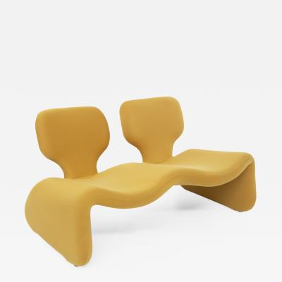 Olivier Mourgue Djinn Sofa by Olivier Mourgue in Yellow Fabric