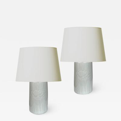 Olle Alberius Pair of Table Lamps with Jaunty Cloud Design by Olle Alberius