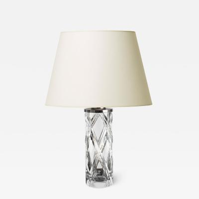 Olle Alberius Table lamp with double diamond pattern by Olle Alberius