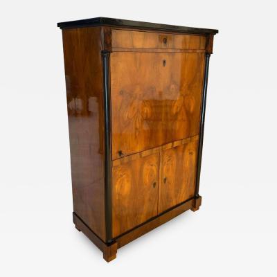 One Doored Biedermeier Armoire Walnut Veneer South Germany circa 1820
