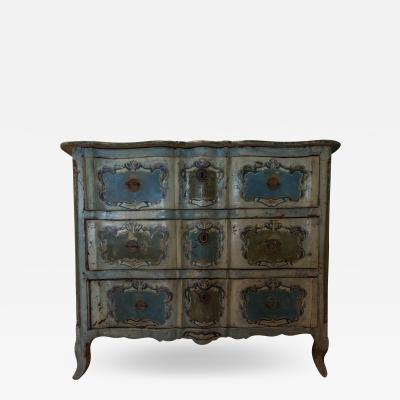 One of a Kind Painted Commode Original Paintwork in Magnificent Colours