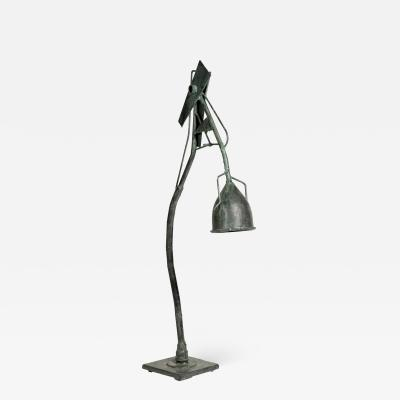 One of a kind Brutalist lamp by Schlosser