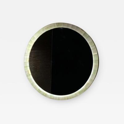 Onyx Round Mirror
