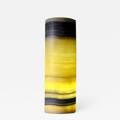Onyx and Marble Industries 17 Cylindrical Horizontal bands Onyx Ambiant Lamp New Mexico