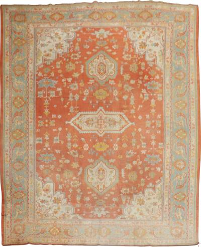 Orange Peel Antique Oushak Rug rug no j1994