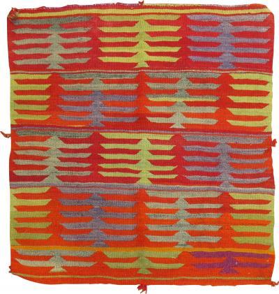 Orange Square Small Kilim rug no 31319