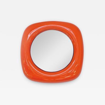 Orange plastic mirror 1970s