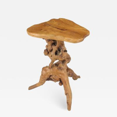Organic Free Form Cypress Root Side Table