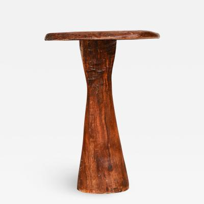 Organic Modern Studio Piece Solid Wood Live Edge Pedestal Table 2013