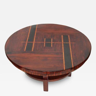 Original Art Deco Rosewood Inlaid Coffee Table