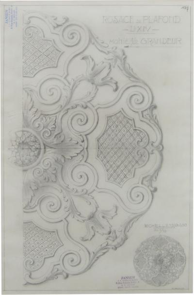 Original Jansen Architectural Pencil Drawing