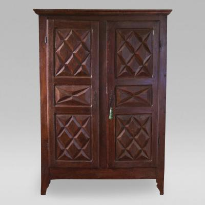 Original Louis XIII Style Cabinet French 19th Century