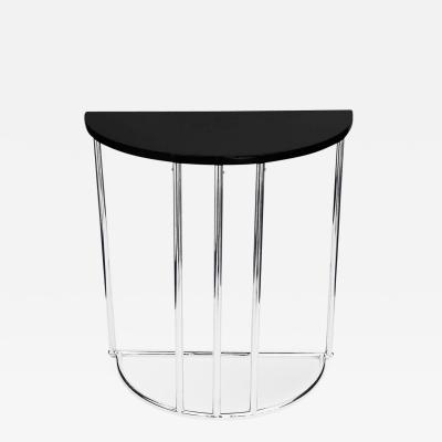 Original Streamline Art Deco Demilune Table