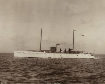 Original photograph by Kirks of Cowes of the Gentleman s motor yacht Ameratas