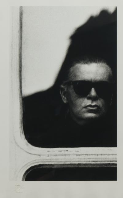 Original self portrait photograph by Karl Lagerfeld