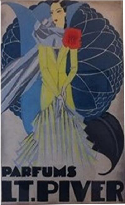 Orignal watercolor for a perfume advertising project by Pera circa 1925