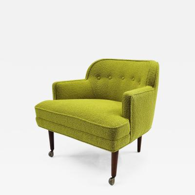 Orla Molgaard Nielsen 1950s Orla Molgaard Nielsen Style Boucle Upholstered Armchair