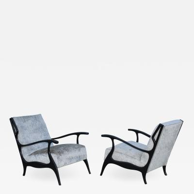 Orlando Orlandi 1950s Italian Lounge Chairs In The Style Of Orlando Orlandi