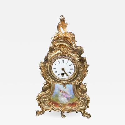 Ormolu and Hand Painted Clock