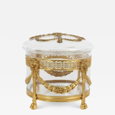 Ornately Gilt Design Details Crystal Covered Box