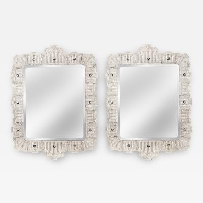 Orrefors Orrefors A Large and Rare Pair of Swedish Glass Framed Mirrors