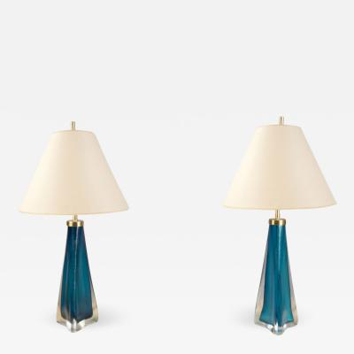 Orrefors Pair of Table Lamps
