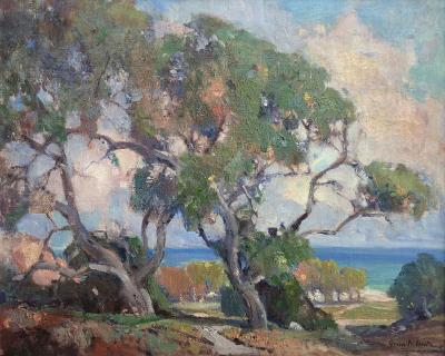 Orrin Augustine White Sycamores and Coast