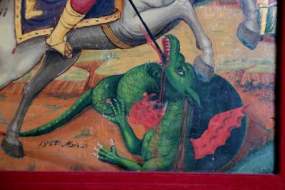 Orthodox Icon St George and the Dragon
