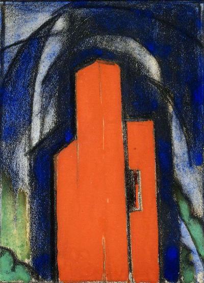 Oscar Bluemner Red House Madonna