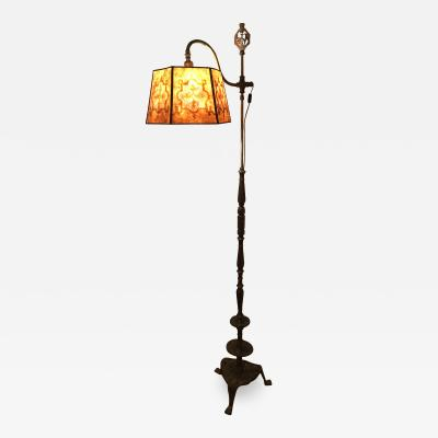 Oscar Bruno Bach Oscar Bach Bridge Lamp with Art Deco Mica Shade