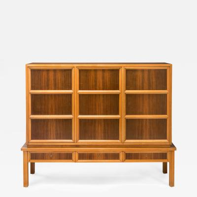 Oscar Nilsson Attributed Swedish Walnut and Beech Cabinet