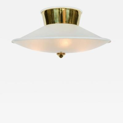 Oscar Torlasco 1950s Flush Mount Ceiling Light by Oscar Torlasco for Lumi
