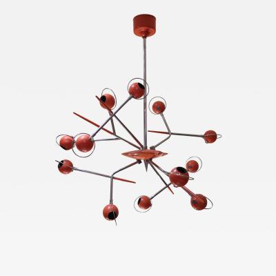 Oscar Torlasco A Lacquered Metal Ceiling Lamp by Oscar Torlasco Italy 1970