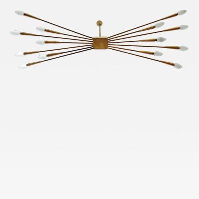Oscar Torlasco Early Oscar Torlasco ceiling lamp for Lumi Italy 1960s