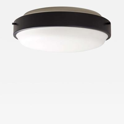 Oscar Torlasco Large 1950s Glass and Metal Wall or Ceiling Lamp by Oscar Torlasco for Lumi