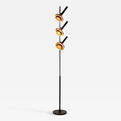 Oscar Torlasco Monumental Oscar Torlasco 3 Cone Floor Lamp for Lumi circa 1958