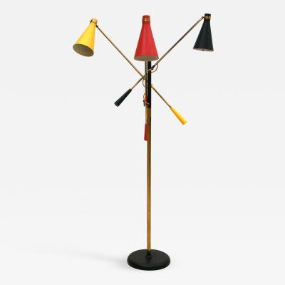 Oscar Torlasco Oscar Torlasco Mid Century Brass Floor Lamp