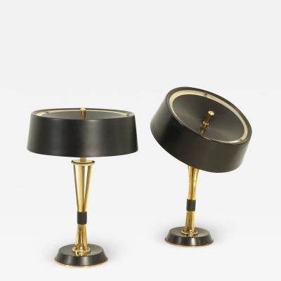 Oscar Torlasco Pair of Adjustable Table Lamps by Oscar Torlasco for Lumi Italy