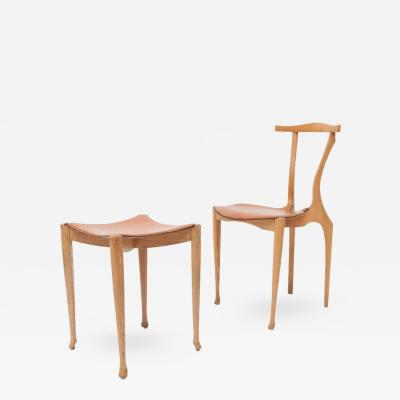 Oscar Tusquets Blanca Oscar Tusquets Gaulino Chair and Ottoman