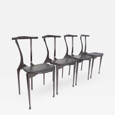 Oscar Tusquets Blanca Set of Oscar Tusquets Gaulino Chairs Black