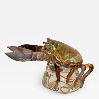 Oscar Zanetti Murano Glass Crab by Oscar Zanetti