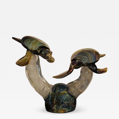 Oscar Zanetti Pair of Turtles