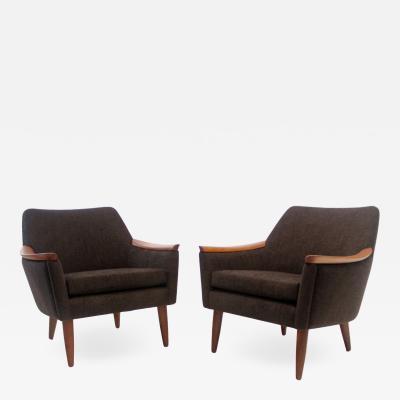 Oskar Lango Pair of Scandinavian Modern Armchairs