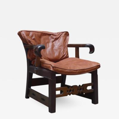 Oskar Strand An Expressionist Lounge Chair by Oskar Strnad