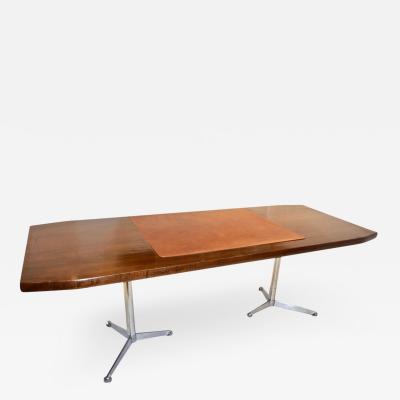 Osvaldo Borsani 1960s Osvaldo Borsani Italian Mahogany Desk Writing Table with Technical Sheet