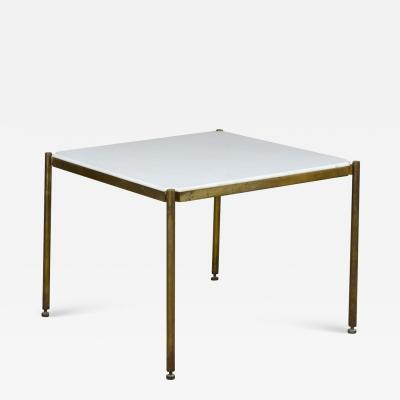 Osvaldo Borsani 20th Century Osvaldo Borsani Low Table in Metal and Marble for Tecno