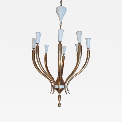 Osvaldo Borsani A Brass Ceiling Lamp by Osvaldo Borsani Italy 1950