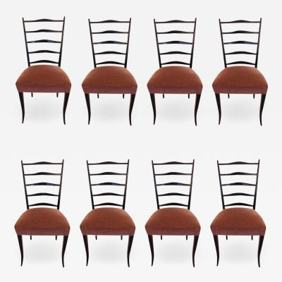 Osvaldo Borsani A SET OF 8 CHAIRS SCHOOL OF OSVALDO BORSANI