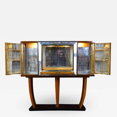 Osvaldo Borsani Art Deco Italian Rare Bar Cabinet Attributed to Osvaldo Borsani